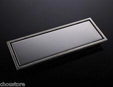 Tile Insert SS Bathroom Floor Drain Invisible Shower Linear Drain Grate Drainer