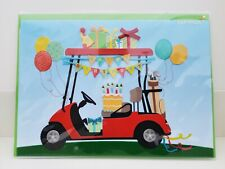 PAPYRUS Golfing Party HAPPY BIRTHDAY Greeting Card Golf Cart Sports Outdoor Gift
