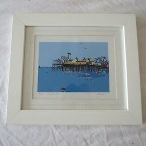 M Dawson (Michelle) Signed Framed Limited edition Print 82/250 'Brighton Pier'
