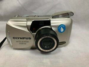 OLYMPUS STYLUS EPIC ZOOM 80 DELUXE 35MM POINT & SHOOT FILM CAMERA ~ WORKS