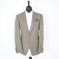 Fantastic Carl Gross Harris Tweed Vintage Blazer Brown Herringbone 42L