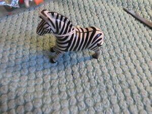 vintage white knob wind-up zebra
