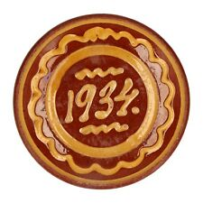A 1934 Swedish rustic Vimmerby pottery bowl Slipware