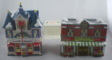 Coca Cola Town Square Collection Gilbert's Grocery AND Strand Theater Lot of 2