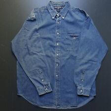Chemise Vintage Polo Sport Ralph Lauren XL blue Denim Shirt
