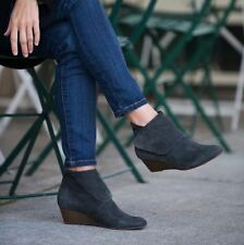 NEW $400 Coclico Keira Gray Suede Leather Ankle Boots Booties 36.5 ANTHROPOLOGIE