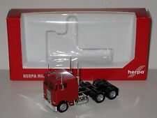 Herpa Models HO 1/87 Peterbilt 362E Cabover Semi Tractor, Red, #25246a