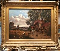 LARGE FINE OIL PAINTING Signed 1888 19th CENTURY BRITISH OLD MASTER PIECE