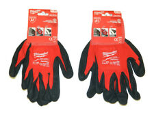 2 Pairs of Milwaukee 48-22-8904 Cut Level 1 A1 Dipped Work Gloves - Size XXL