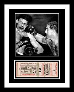 1953 ROCKY MARCIANO vs La STARZA BOXING UNUSED TICKET DISPLAY