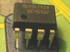 RC4558P  Dual General-Purpose Operational Amplifier DIP 8 Texas Int.  2pcs