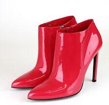 "$795 New Authentic GUCCI ""Gloria"" Patent Leather Boots, Fuchsia,38.5/8.5, 320623"