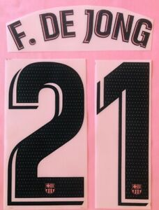 2020/21 FC Barcelona #21 DE JONG 3rd Soccer Jersey Name Set