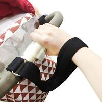 1PC Baby Stroller Safety Belt Wrist Strap Kids Pram Pushchair Travel Accs Black
