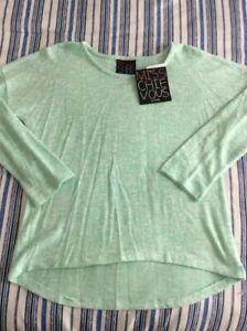 Miss Chievous Juniors Pullover Lightweight Sweater - Sz L - Brook Green - New!