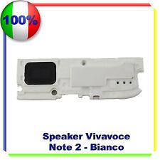 BUZZER SUONERIA ALTOPARLANTE ANTENNA VIVAVOCE PER SAMSUNG NOTE 2 N7100 BIANCO