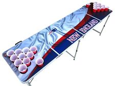 New England Patriots Beer Pong Table with holes.