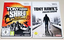 2 WII SPIELE BUNDLE - TONY HAWK'S SHRED & PROVING GROUND - SKATEBOARDING RIDE