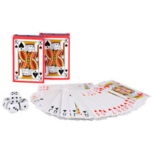 PACK OF 2 PLAYING CARDS & DICE GAMES DICE POKER LUDO TABLE NIGHT FUN CASINO