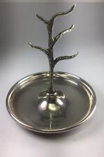 2003 Ari D Norman Sterling Silver Ring Tree Stand & Jewelry Tray Combo