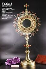 """Large Brass Monstrance Reliquary with Lunette for Church, 36 3/5""""High X68&A"""