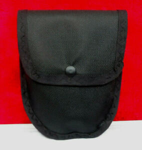 Handmade Nylon and Leather Pouch Bag w/Metal Belt Clip for Right Side