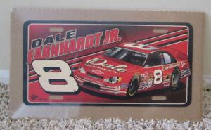 VINTAGE NASCAR DALE EARNHARDT JR #8 LICENSE PLATE SHRINK WRAPPED MAN CAVE RARE