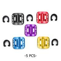 5pcs Bike Brake Cable Guide Clips Bicycles Gear Aluminium Alloy C Buckles Clamps