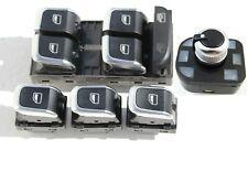 6 Pulsanti cromati AUDI A4 S4 A5 S5 Q5  pulsantiera interruttori tasti