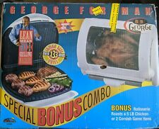New George Foreman Baby George Rotisserie + Grill Combo Set - New in Box
