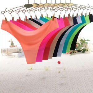 Women Ladies G-string Briefs Panties Seamless Thongs Lingerie Soft Underwear HQ