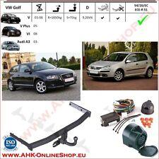 Gancio traino Audi A3 / VW Golf VI / V Plus / Golf V 03- +elettrico 13-poli