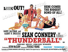 THUNDERBALL LOBBY CARD POSTER BQ 1965 JAMES BOND 007 SEAN CONNERY CLAUDINE AUGER