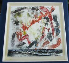 Tableaux peinture Jean-Jacques Rossbach 93 cadre toile 40 x 40 cm contemporain