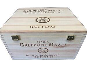 Ruffino Greppone Mazzi Wood wine box