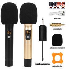 25 Channel Microphone Wireless Handheld Cordless Mic For Karaoke Singing DJ Bar