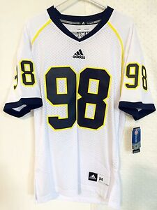 Adidas Premier NCAA Jersey U OF MICHIGAN Wolverines #98 White sz 2X