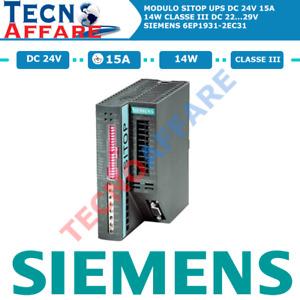 Modulo SITOP UPS Gruppo di Continuità Industriale 15A DC 24V 14W Siemens