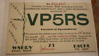 OLD VINTAGE QSL HAM RADIO CARD POSTCARD, JAMAICA WEST INDIES 1959