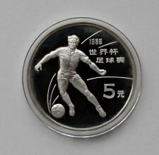 "China: 5 Yuan 1986 "" Fussball "", Y 112 , Pf, Proof, Rarely II"