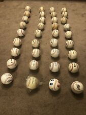 36 Used Leather Practice Baseballs Various Brands Lot Of 35 Balls +Pitching Ball