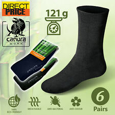 6 Pairs Bamboo Work Socks 88% Bamboo Socks Thick Mens Heavy Duty Cushion Premium