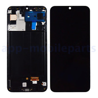 Samsung Galaxy A50 2019 A505U P U1 V AMOLED LCD Screen Digitizer Frame Black HQ