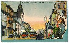 Trolleys, View to Leszno Street, Warsaw/Warszawa,Poland,1910s