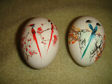 Superb Chinese Painted Eggs-Painted Birds-Signed-Pair Of Chinese Eggs-Intricate