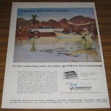 1960 Ad GM Harrison Air Conditioning Polar Bear in Boat