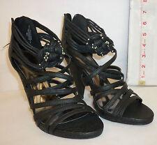 Baby Phat New Womens Black Ianna 7.5  Open Toe Heels