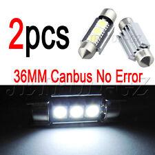 2X 36mm Car LED Canbus Festoon No Error LICENSE PLATE Light Bulb 6418 C5W 6411