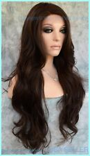 Lace Front Wig Color Chocolate #6 LONG DELICATE WAVES SEDUCTIVE HOT STYLE  1312