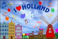 Kühlschrankmagnet,Magnetschild,Magnet-I´Love Holland 3